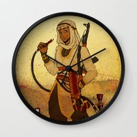 aladdin Wall Clocks featuring Modern Day Aladdin by Sako Tumi