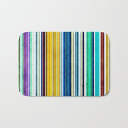 Colorful Stripes With Texture Bath Mat