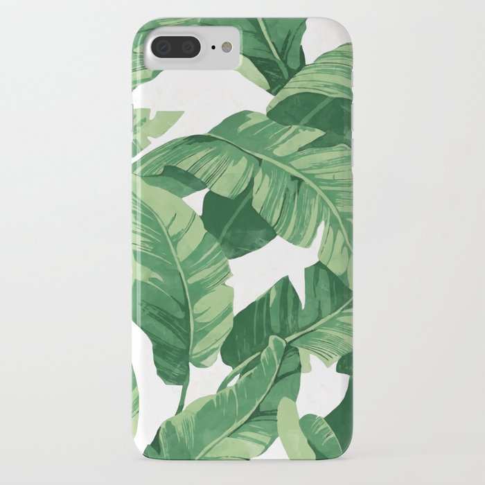 tropical banana leaves iv iphone case