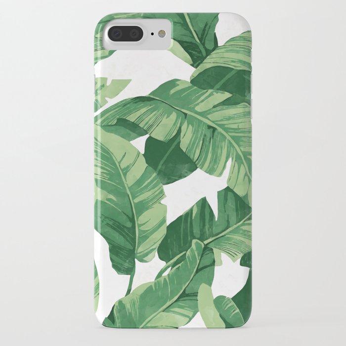 tropical banana leaves iv iphone case