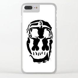 Surrealistic skull inspired by Salvador Dali photo Clear iPhone Case