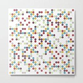 Wack-a-Doodle Dots Metal Print