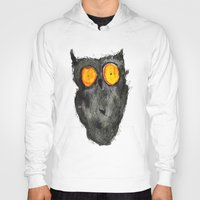 scary Hoodies featuring Scary owl by Bwiselizzy