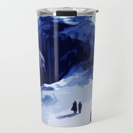Tardis Art At The Snow Mountain Travel Mug