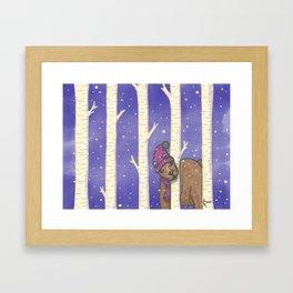 Bear With Me Framed Art Print