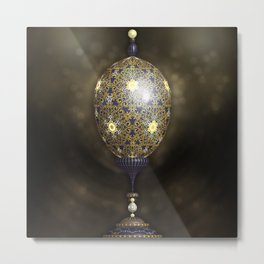 Fabergé Egg Illustration Metal Print