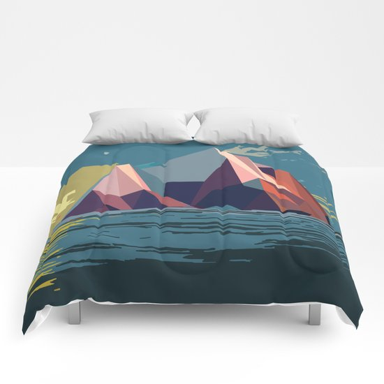 Night Mountains No. 4 Comforters