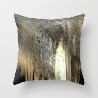 champagne Throw Pillows featuring champagne by Maria Julia Bastias