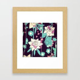 Roses are pink  Framed Art Print