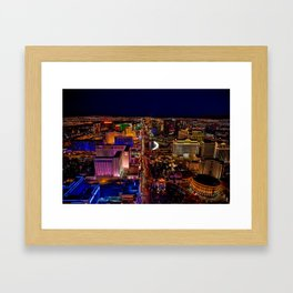 Las Vegas Nevada Skyline Framed Art Print
