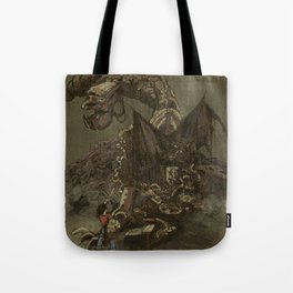 Junkyard Dragon  Tote Bag