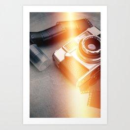 Vintage Camera and Film II Art Print