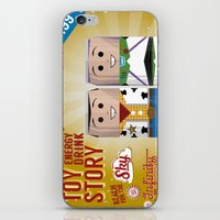 toy story iPhone & iPod Skins featuring Toy Story Soda Cans by Oneskillwonder