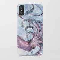 squid iPhone & iPod Cases featuring Squid by Danielle Borisoff