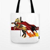 smaug Tote Bags featuring Smaug by MarieJacquelyn