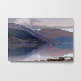 Argyll Scotland loch peaceful boats Metal Print