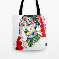 indian Tote Bags featuring Indian by Cemile Demir Uzunoglu