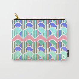Colorful waves- upside down Carry-All Pouch