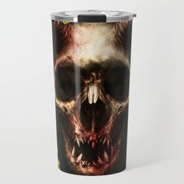 Yellow Rose Pedal Skull Travel Mug