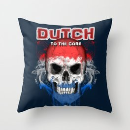 To The Core Collection: Netherlands Throw Pillow