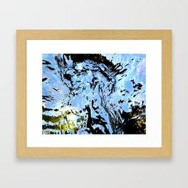 Standing In The River Framed Art Print