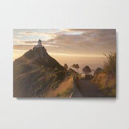 Sunrise at Nugget Point, Otago, New Zealand Metal Print