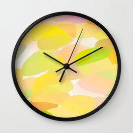 Delicate Leaves and Petals - Pastel Colors - Abstract #decor #society6 #buyart Wall Clock