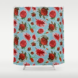 Australian Native Floral Pattern Shower Curtain