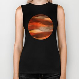 """Sea of sand and caramel waves"" Biker Tank"