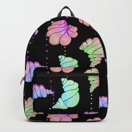 Ice Cream Shells Black Iridescent Backpack