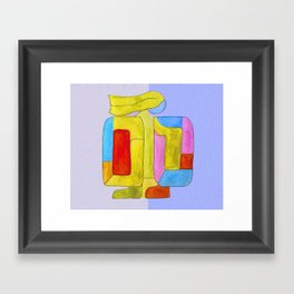Blue mama Framed Art Print