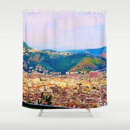 Italian Cityscape Shower Curtain