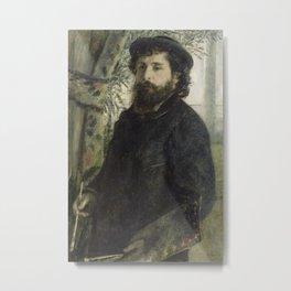 Pierre-Auguste Renoir - Portrait of Claude Monet Metal Print