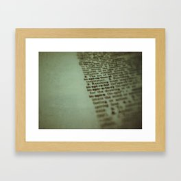 Learning  your Vocabulary  Framed Art Print