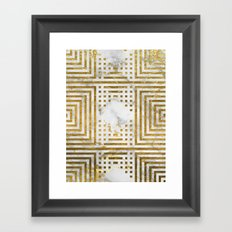 Marble and Gold Pattern #2 Framed Art Print