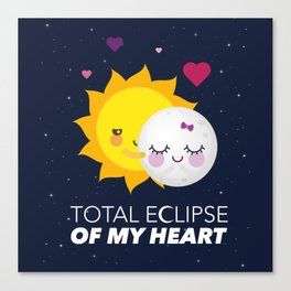 Total eclipse of my heart Canvas Print