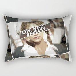 """Oh Baby, Babeey"" Comic Art  Rectangular Pillow"