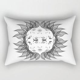 Symmetrical Sun Rectangular Pillow