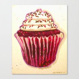 Red Velvet cupcake Canvas Print