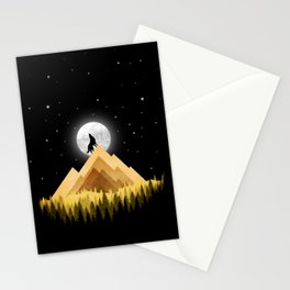 Nighter Shape Stationery Cards