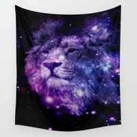 leo Wall Tapestries featuring leo lion by 2sweet4words Designs