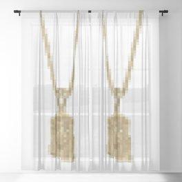 JESUS PIECE Sheer Curtain
