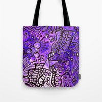 zentangle Tote Bags featuring Zentangle  by ShaMiLa