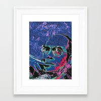 hunter s thompson Framed Art Prints featuring Hunter S. Thompson by Kori Levy illustration & design