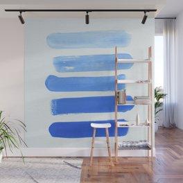 Shades of Blue Wall Mural