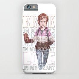 Brick + Knife + Love iPhone Case