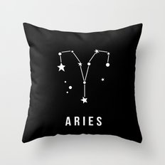 Aries Zodiac Sign Quote Throw Pillow