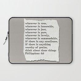 Philippians 4:8 Laptop Sleeve