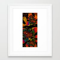 trippy Framed Art Prints featuring Trippy by Amanda Moore
