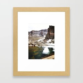 Hiking at High Elevations Framed Art Print